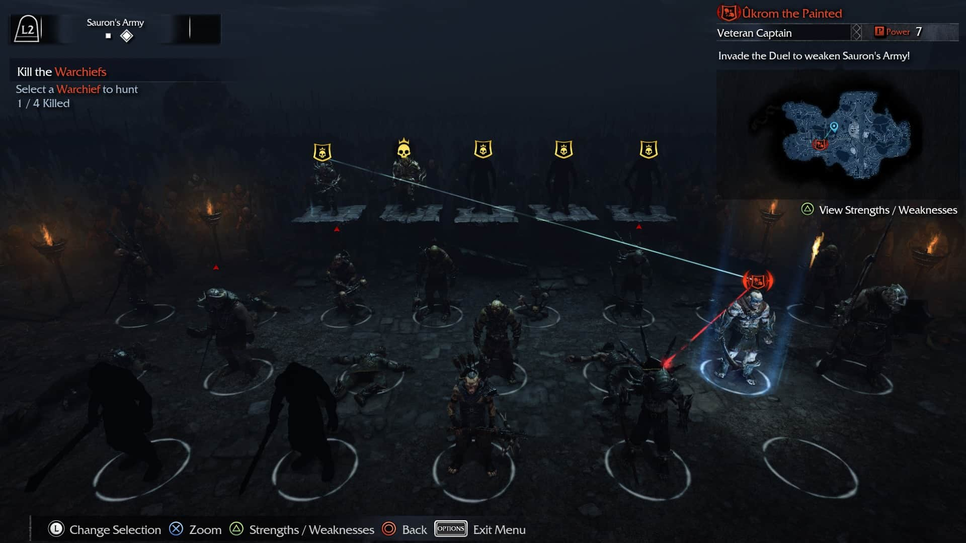 Shadow of Mordor - Nemesis system hierarchy