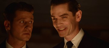 """GOTHAM: L-R: Ben Mckenzie and James Frain in the """"Rise of the Villains: Mommy's Little Monster"""" episode of GOTHAM airing Monday, Nov. 2 (8:00-9:00 PM ET/PT) on FOX. ©2015 Fox Broadcasting Co. Cr: FOX."""