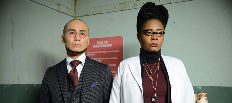 "GOTHAM: L-R: Guest stars BD Wong and Tonya Pinkins in the ""Wrath of the Villains: A Dead Man Feels No Cold"" episode of GOTHAM airing Monday, March 7 (8:00-9:01 PM ET/PT) on FOX. ©2016 Fox Broadcasting Co. Cr: FOX."