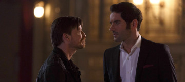 "LUCIFER: L-R: Guest star Kevin Rankin and Tom Ellis in the ""#TeamLucifer"" episode of LUCIFER airing Monday, April 18 (9:01-10:00 PM ET/PT) on FOX. ©2016 Fox Broadcasting Co. CR: Michael Courtney/FOX"