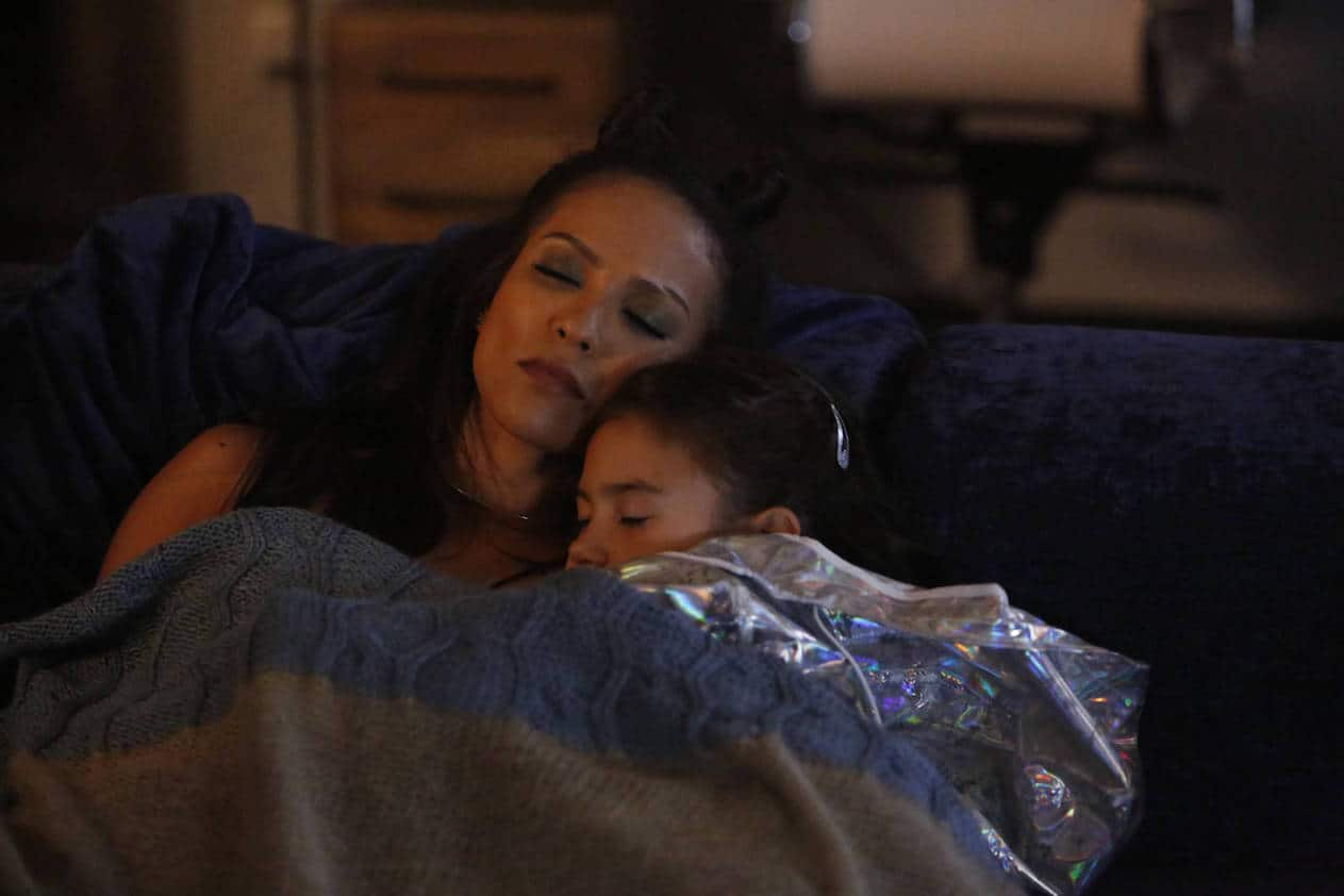 "LUCIFER: L-R: Lesley-Ann Brandt and Scarlett Estevez in the ""Monster"" episode of LUCIFER airing Monday, Oct. 31 (9:01-10:00 PM ET/PT) on FOX. ©2016 Fox Broadcasting Co. Cr: Bettina Strauss/FOX."
