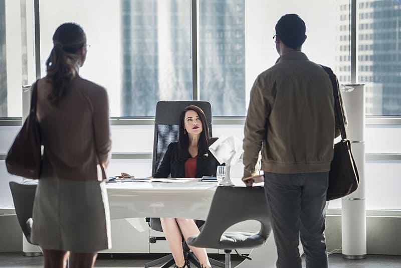"Supergirl -- ""The Adventures Of Supergirl"" -- Image SPG201a_0017 -- Pictured (L_R) Melissa Benoist Kara, Katie McGrath as Lena Luthor, and Tyler Hoechlin as Clark -- Photo: Diyah Pera/The CW -- © 2016 The CW Network, LLC. All Rights Reserved"