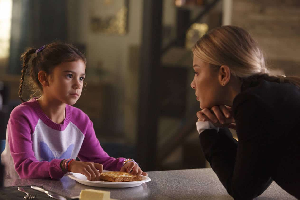 "LUCIFER: L-R: Scarlett Estevez and Lauren German in the ""My Little Monkey"" episode of LUCIFER airing Monday, Nov. 7 (9:01-10:00 PM ET/PT) on FOX. ©2016 Fox Broadcasting Co. Cr: Michael Courtney/FOX."
