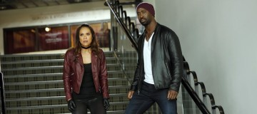 "LUCIFER: L-R: Lesley-Ann Brandt and D.B. Woodside in the ""Trip To Stabby Town"" episode of LUCIFER airing Monday, Nov. 14 (9:01-10:00 PM ET/PT) on FOX. ©2016 Fox Broadcasting Co. Cr: Bettina Strauss/FOX"