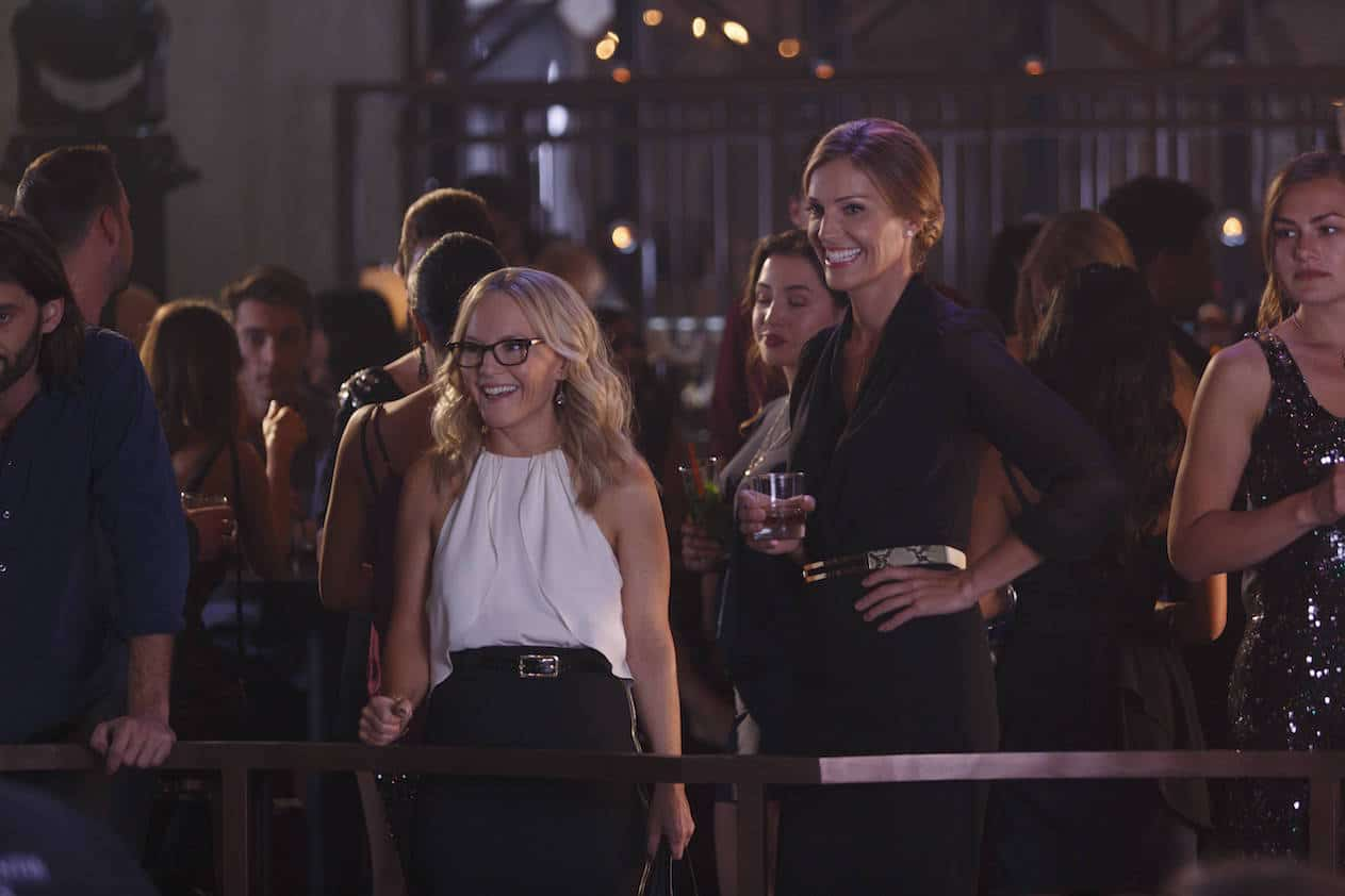 "LUCIFER: L-R: Rachael Harris and Tricia Helfer in the ""Homewrecker"" episode of LUCIFER airing Monday, Nov. 21 (9:01-10:00 PM ET/PT) on FOX. ©2016 Fox Broadcasting Co. Cr: Michael Courtney/FOX."