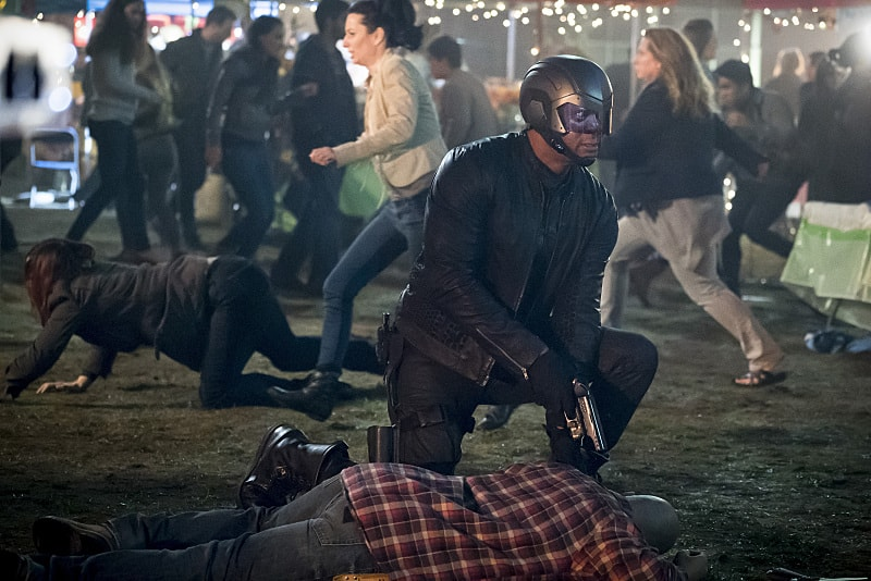 """Arrow -- """"So It Begins"""" -- Image AR506b_0165b.jpg -- Pictured: David Ramsey as John Diggle/Spartan -- Photo: Katie Yu/The CW -- © 2016 The CW Network, LLC. All Rights Reserved."""