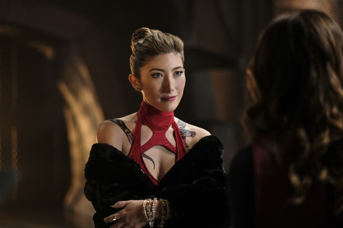"Supergirl -- ""Supergirl Lives"" -- Image SPG209b_0140.jpg -- Pictured: Dichen Lachman as Roulette -- Photo: Robert Falconer/The CW -- © 2017 The CW Network, LLC. All Rights Reserved"