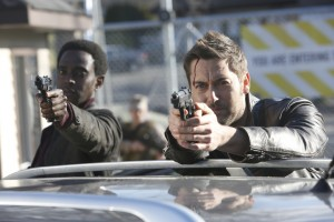 "THE BLACKLIST: REDEMPTION -- ""Kevin Jensen"" Episode 103 -- Pictured: (l-r) Edi Gathegi as Solomon, Ryan Eggold as Tom Keen -- (Photo by: Will Hart/NBC)"