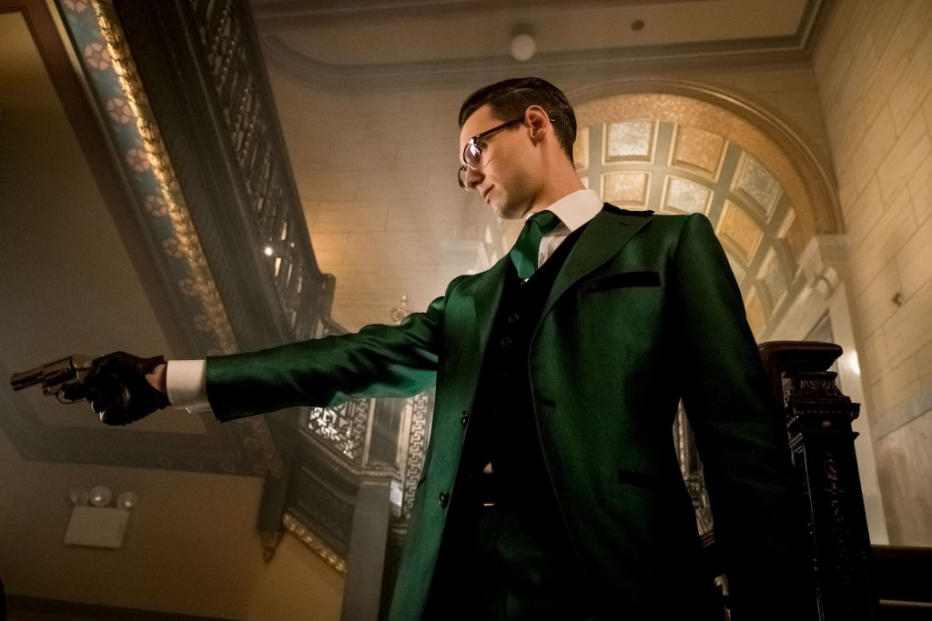 """GOTHAM: Cory Michael Smith in the """"Mad City: How The Riddler Got His Name"""" spring premiere episode of GOTHAM airing Monday, April 24 (8:00-9:01 PM ET/PT) on FOX. Cr: Jeff Neumann/FOX"""