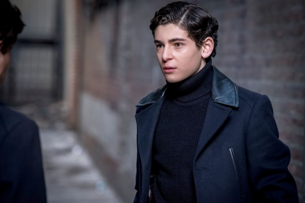 "GOTHAM: David Mazouz in the ""Mad City: How The Riddler Got His Name"" spring premiere episode of GOTHAM airing Monday, April 24 (8:00-9:01 PM ET/PT) on FOX. Cr: Jeff Neumann/FOX"