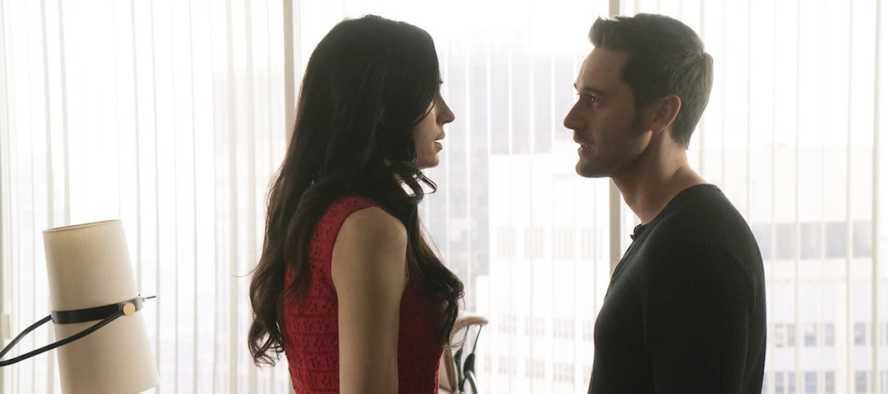 "THE BLACKLIST: REDEMPTION -- Episode 107 ""Whitehall"" --  Pictured: (l-r) Famke Janssen as Susan ""Scottie"" Hargrave, Ryan Eggold as Tom Keen -- (Photo by: Barbara Nitke/NBC)"
