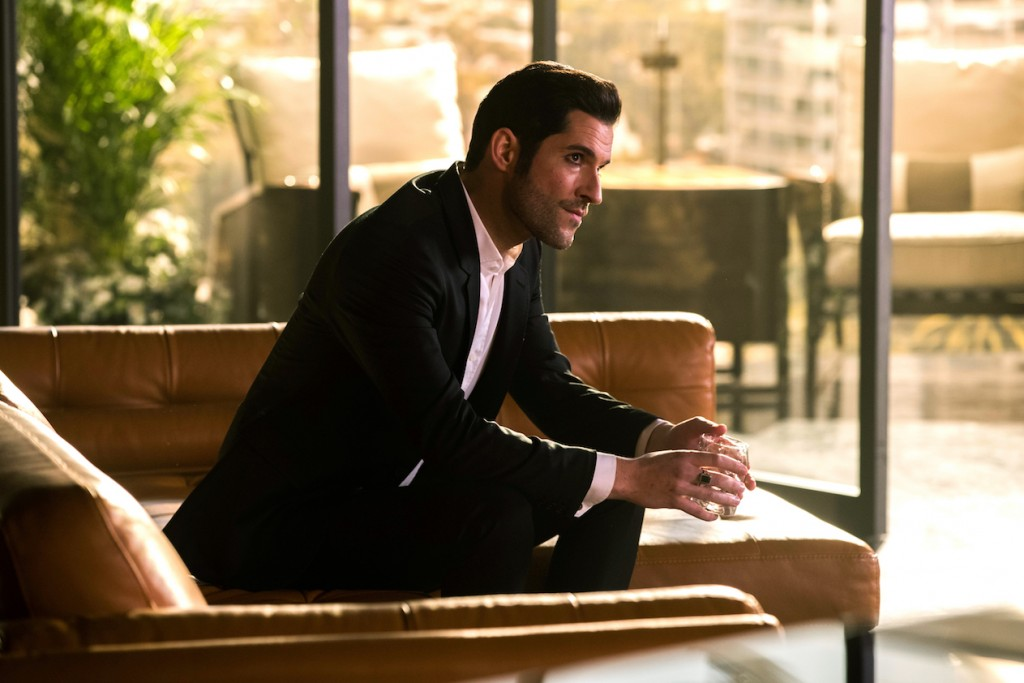 "LUCIFER: Tom Ellis in the ""God Johnson"" episode of LUCIFER airing Monday, May 15 (9:01-10:00 PM ET/PT) on FOX. Cr: Jack Rowand/FOX"