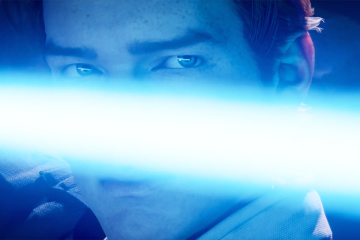 Jedi Fallen Order Cal with lightsaber