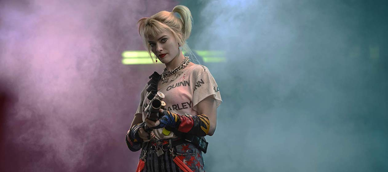 Harley Quinn with bean bag confetti cannon.